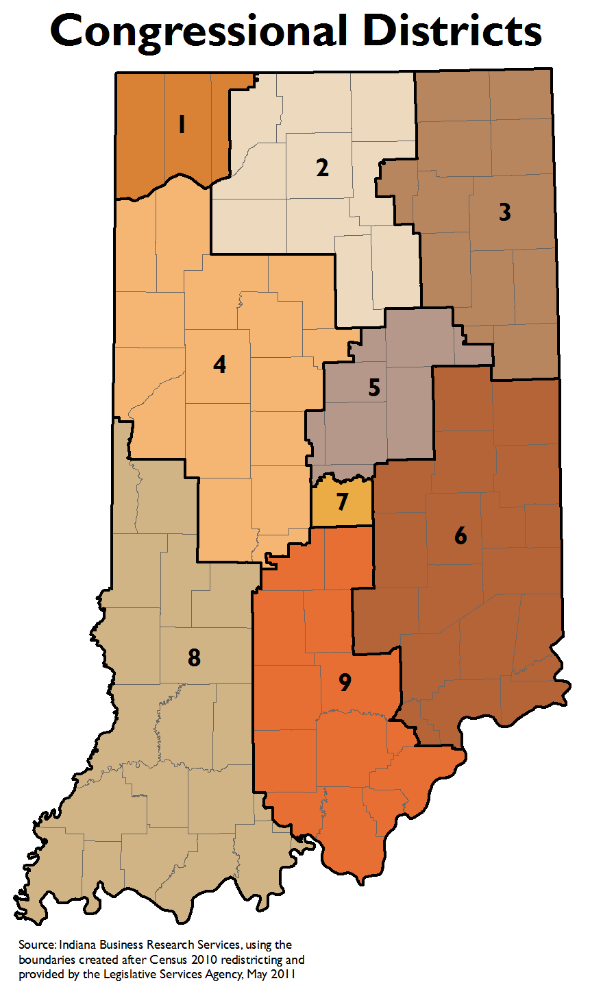 Legislative Redistricting Topic Page STATS Indiana - Us house district 13 map