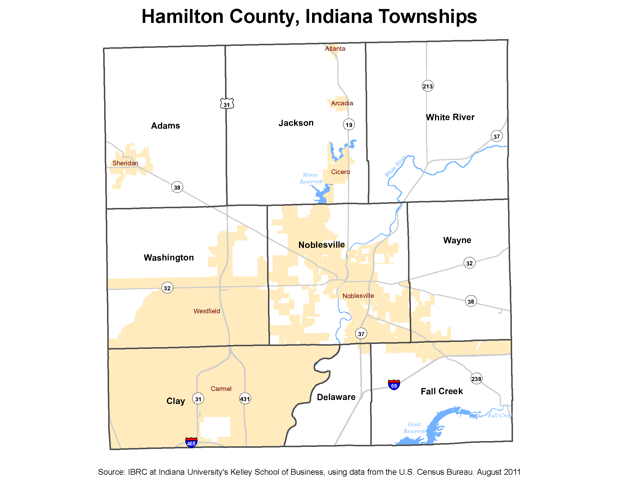 Township Maps Stats Indiana