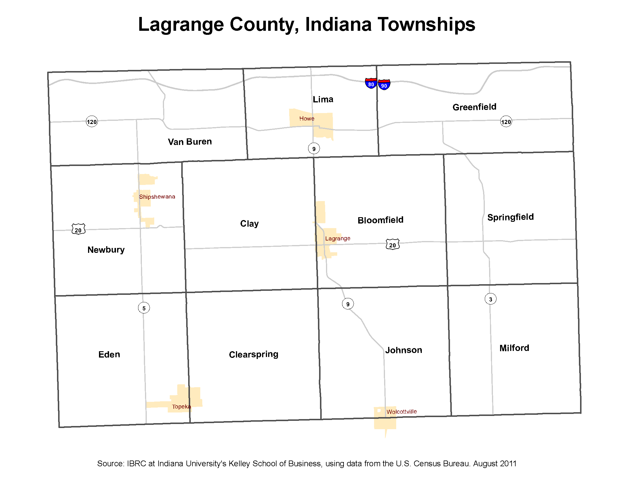 Howe Indiana Map.Township Maps Stats Indiana