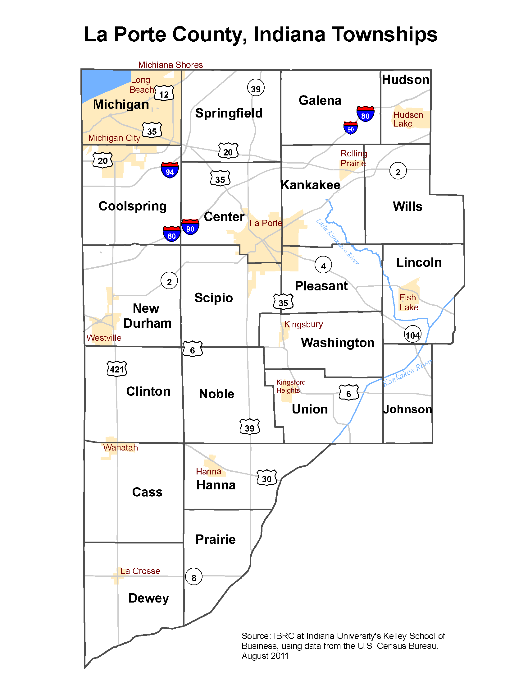 Laporte county township map my blog for Laporte indiana news
