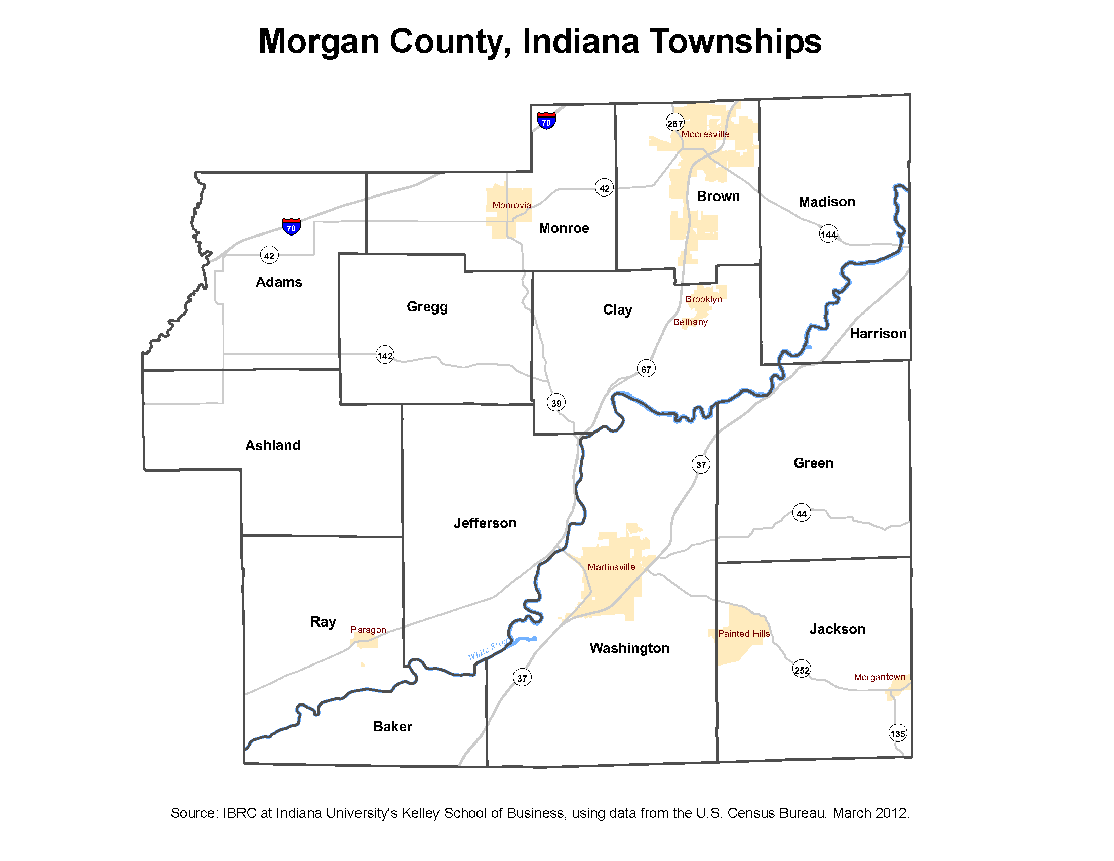 Jefferson County Indiana Map.Township Maps Stats Indiana
