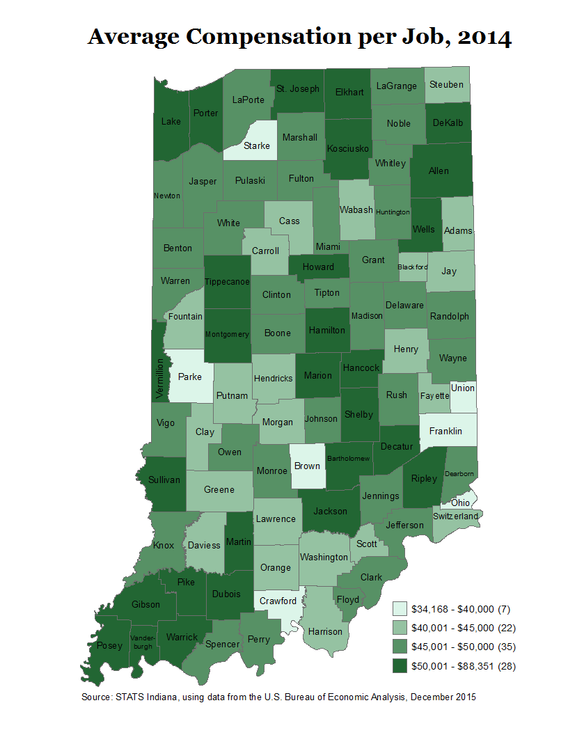Thematic Maps STATS Indiana - Map of wealth distribution in the us