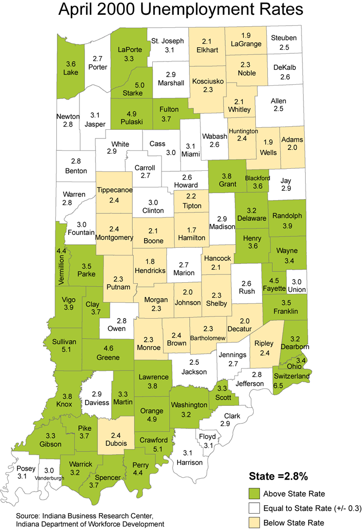 indiana stats laus maps unemployment rate maptools edu thematic 2000