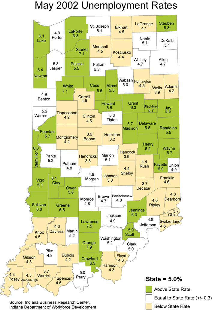 indiana laus maps unemployment stats rate maptools edu thematic 2002