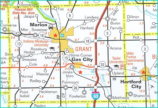 Gas City Indiana Map.Www Stats Indiana Edu Maps County Highway