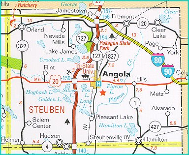 Steuben County Indiana Map.Www Stats Indiana Edu Maps County Highway