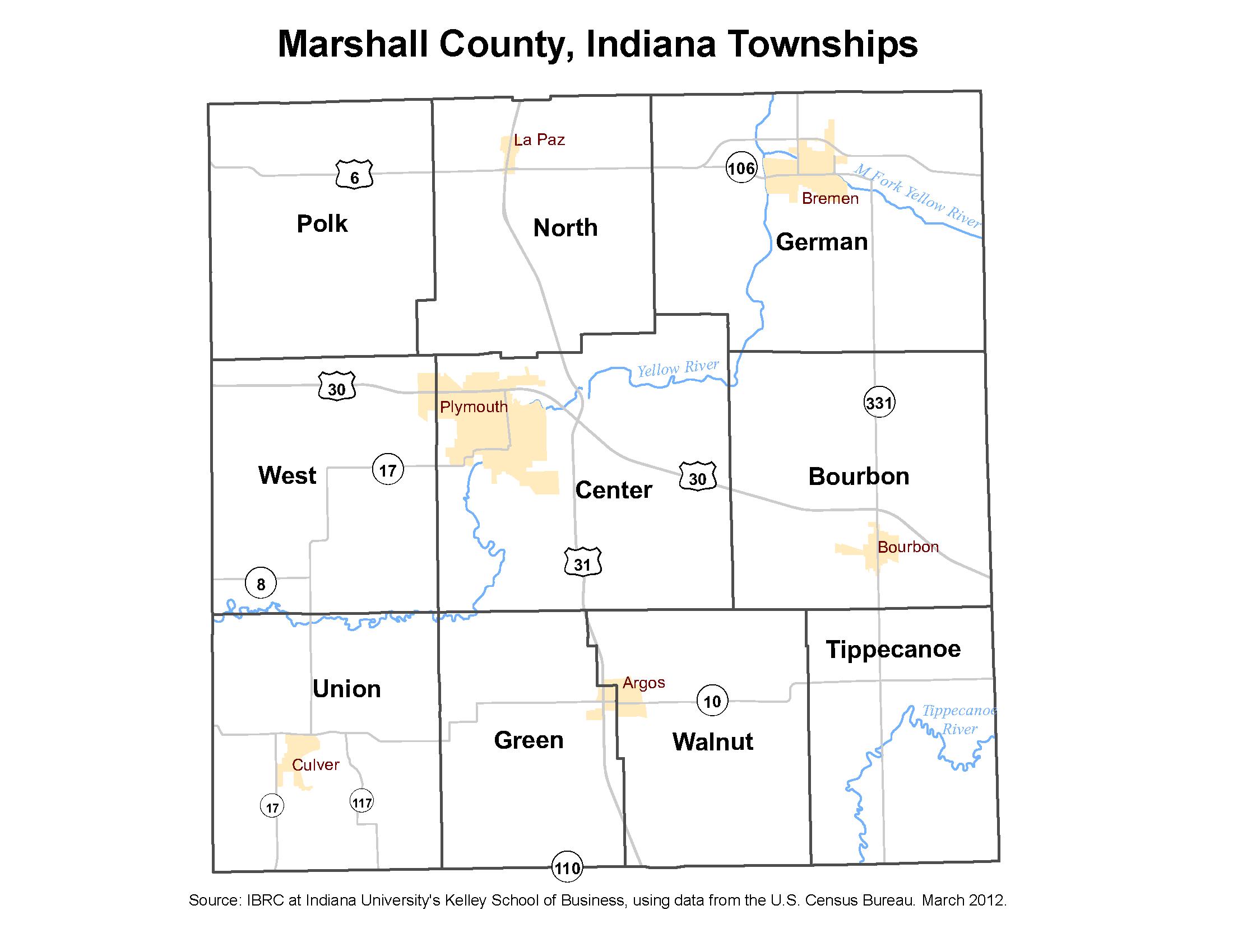 Township Maps Stats Indiana